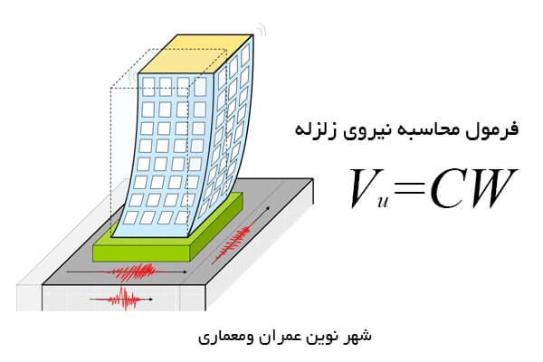 فرمول محاسبه نیروی زلزله
